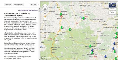 Capture écran stationnement adapté en Lozère, gratuit ou pas ?, jpg