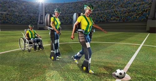 Image d'un exosquelette pour paraplégique, mundial 2014