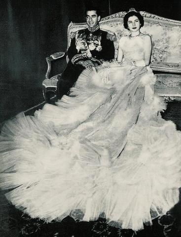 Photo mariage Shah d'Iran et Soraya