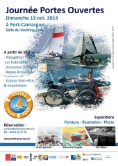 Voiles pour tous, accessibilité en voilier, portes ouvertes octobre 2013