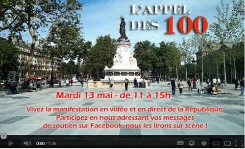 Image Appel des 100 pour la Manif du 13 mai, place de la République, Paris, APF