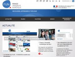 Capture écran web France Université Numérique, jpg