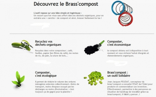 Capture écran site du Brass'compost