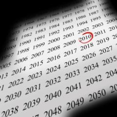 Image d'un calendrier, années, jpg