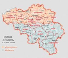Carte régions Belgique, jpg