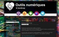 Capture écran : outils numériques & handicap, jpg
