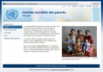 Capture écran site web Unesco, journée mondiale des parents, jpg