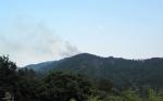 Feu de forêt, Col d'Uglas, Cévennes