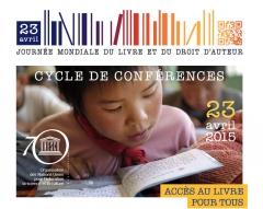 Affiche UNESCO, Conférences Accès au livre pour tous, 23 avril 2015