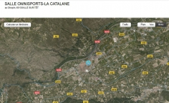 Carte satellite La Catalane, Ille-sur-Têt, jpg