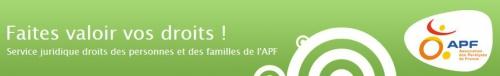 Visuel du Blog APF Faites valoir vos droits !