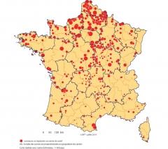 Carte impplantation des centres de santé