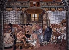 Photo de Peinture de Domenico di Bartolo, Soin des malades, jpg