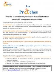 Affiche Groupe des Proches APF