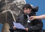Phot d'Odile Maurin, représentante APF de Haute Garonne, Appel des 100