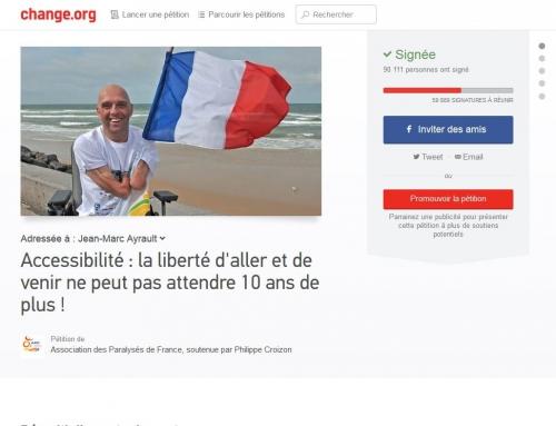 Accessibilité, pétition, Croizon