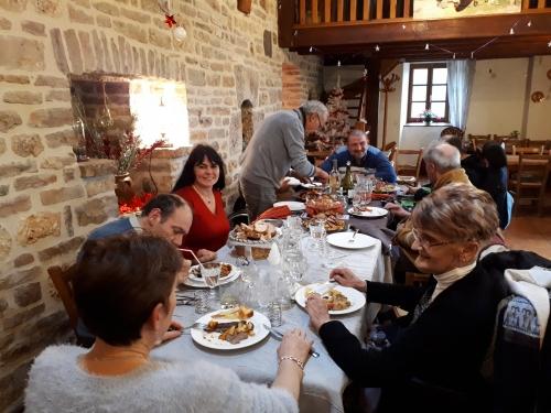 Repas Auberge Le Gazy, APFFrancehandicap lozère, APF