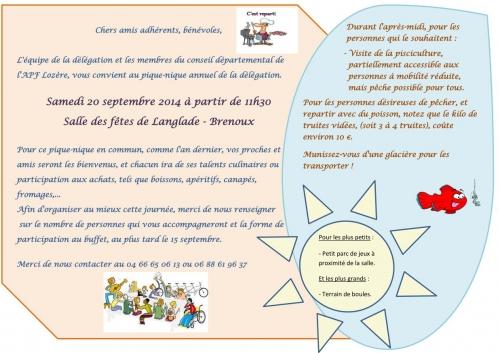 Affiche pique-nique à Langlade-Brenoux, jpg