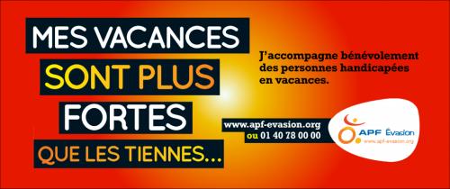 "Image d'APF Evasion ""mes vacances sont plus fortes que les tiennes, www.apf-evasion.org, jpg"