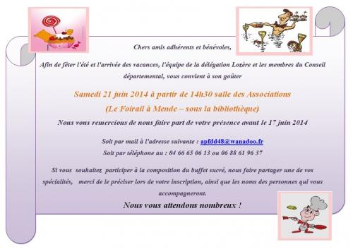 Image de l'invitation au goûter de l'APF du 21 juin