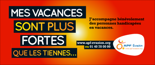 Affiche APFEvasion : mes vacances sont plus fortes que les tiennes