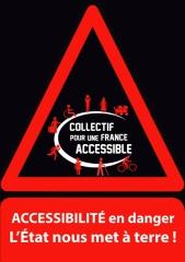 Affiche Accessibilité en danger, jpg