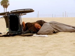 Endormido, fauteuil , plage