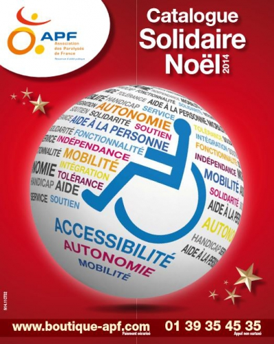 Couverure catalogue Noël APF Solidaire, jpg