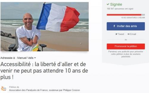 Image de la pétition APF pour l'accessibilité sur change.org, jpg
