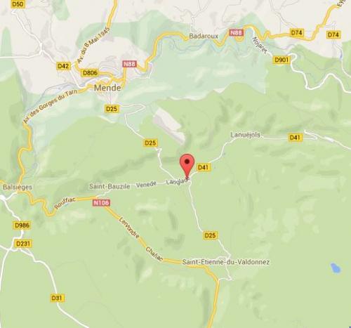 Carte Langlade-Brenoux google maps, jpg