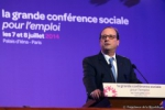 Photo de MR Hollande à la Conférence Sociale, jpg