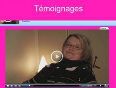 Capture écran vidéo témoignage Laetitia, vie affective et sexuelle, jpg