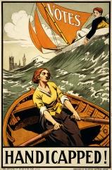 Affiche Handicapped propagande anglaise pour le vote des femmes, jpg