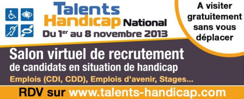 Talents Handicap, salon virtuel de recrutement