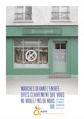 """Affiche APF : Boulangerie inacessible """" Dites que vous ne voulez pas de nous"""", jpg"""