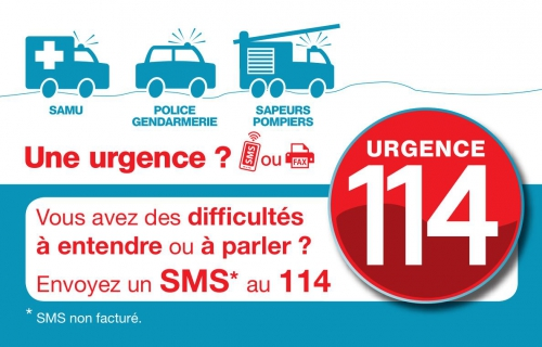 114? urgence par sms ou fax