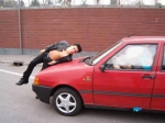 Photo simulated car accident, jpg