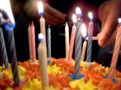 Bougies, anniversaire, retraite