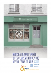 Affiche APF, Boulangerie inaccessible,