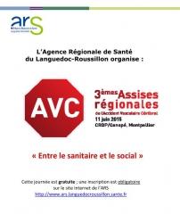 Affiche Assises Régionales AVC, Montpellier