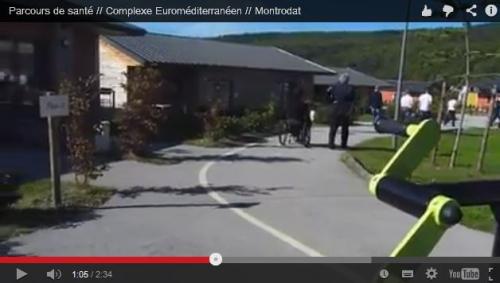 Capture écran vidéo parcours de santé adapté Montrodat, 48info.fr, jpg