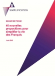 Simplification Les 40 propositions