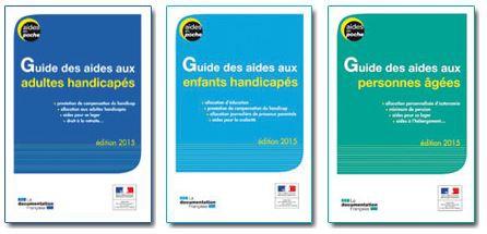 Couvertures des guides Aides en poche, jpg