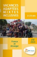 Couverture catalogue Vacances été 2015 enfants-jeunes APF Evasion, jpg