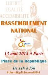 Image d'appel à la manif APF à Paris le 13 mai, jpg