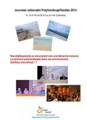 Couverture Actes Journées Nationales Polyhandicap-Handas, jpg