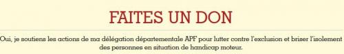 Oui je soutiens ma délégation départementale APF