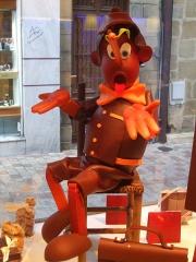 Photo de Pinocchio en chocolat, chocolatier Lamy,Brive la gaillarde, photo de Cricri, jpg