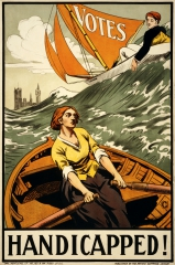 Affiche Handicapped! Propaganda poster for the Artists' Suffrage League , jpg
