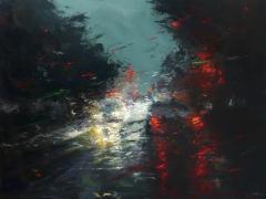 """Peinture """"Orage denfert"""" par Patrice Larue"""